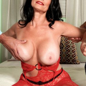 Huge-chested brunette grandma Rita Daniels having ass ass-plug stuffed in wild rectum
