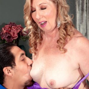 Over Fifty MILF Summer Sands having swell nipples blown clean of cane juices