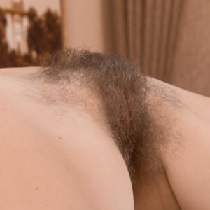 Tall Euro first-timer Ira touching immense all-natural melons while parting unshaven vag