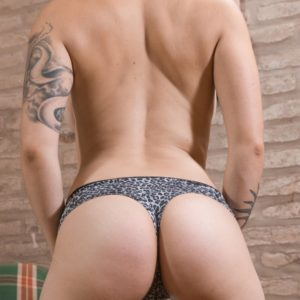 Short haired amateur girl Sue baring large all-natural juggs and furry honeypot