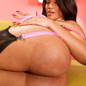 Solo model Blu Diamond showcases off her humungous ass in hosiery and garters
