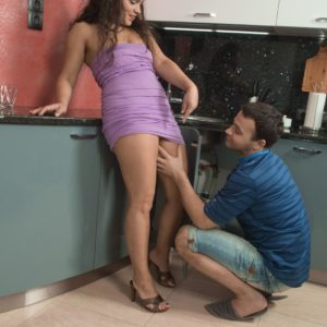 Big-boobed amateur Ericka Fly taking hardcore doggie screwing of hairy cunt