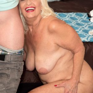Chubby 60 plus MILF Vikki Vaughn unveiling plus size elder doll ass and enormous funbags