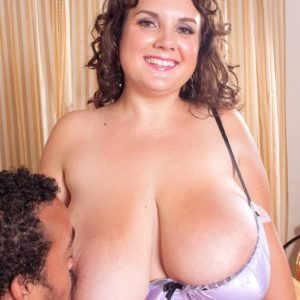 Obese chick Charlie Cooper delights her man with her hefty tits in sheer lingerie