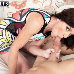 60 Plus MILF Cashmere gets poked by a junior man after seducing him via a window