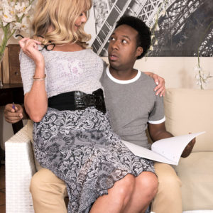 Irresistible grandma Mia Magnusson gets boinked doggystyle after seducing a black dude