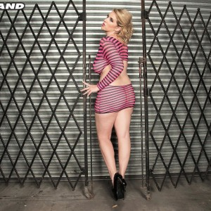 Ash-blonde MILF Rockell looses her humungous all-natural boobs from a revealing sundress in solo activity