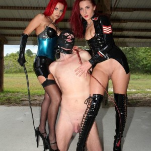 Alexia Jordon and Amadahy Mistrix are joined by a 3rd bossy type during CFNM play