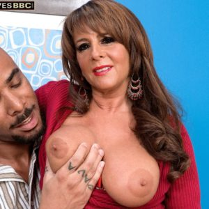 Alluring grandma Cassidy has her uber-cute boobies and butt unsheathed by her younger ebony lover