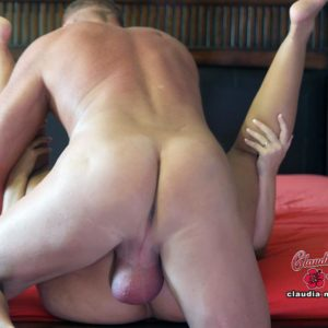Big-titted mature platinum blond Claudia Marie receives a popshot in mouth after a screw