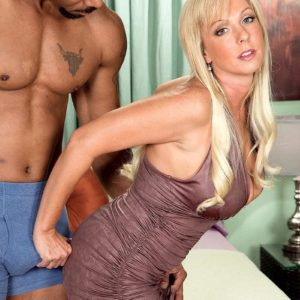 Immense boobed grandmother Alysha is liberated from a short sundress by her younger black paramour