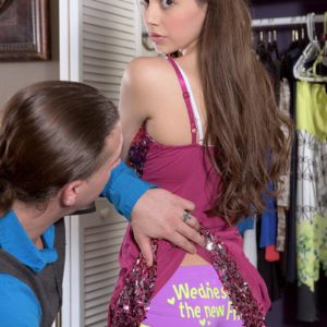 Black-haired nubile Lucy Lady ends up riding her stepfather`s dick up in her bedroom